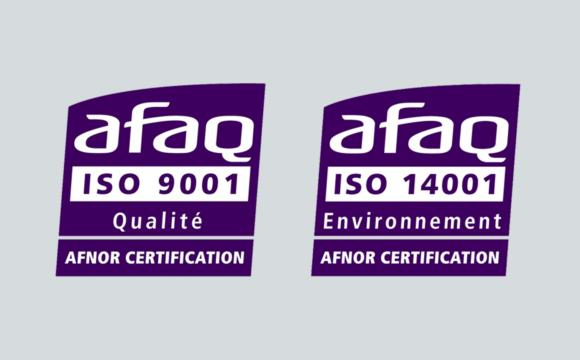 Nouvelles certifications ISO 9001 et 14001 !